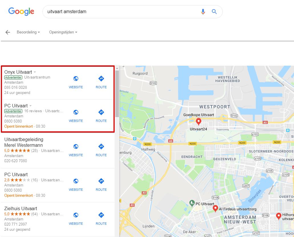 Zoekmachine adverteren (SEA) met Google Mijn Bedrijf
