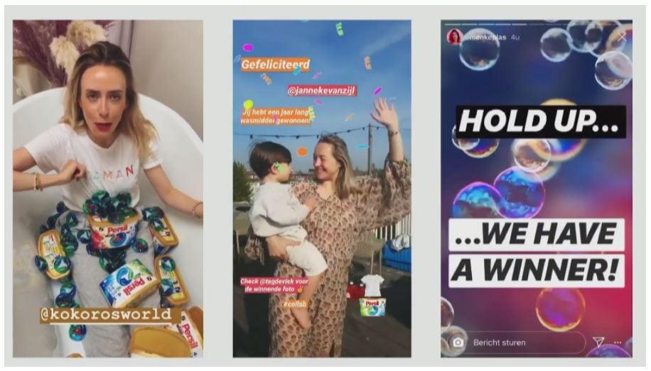 Nienke plas op social media platform Instagram.