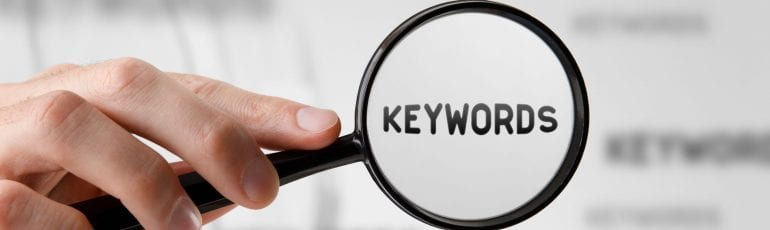 keywords zoekwoorden