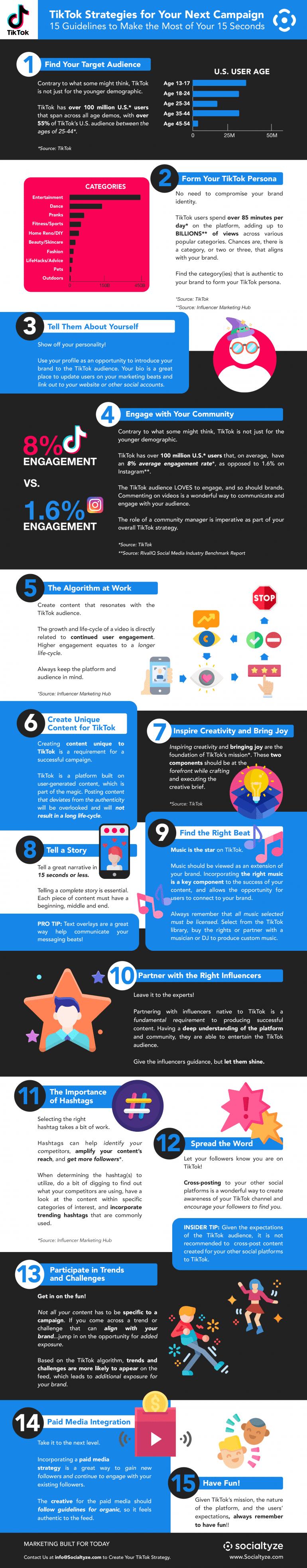 15 tips voor jouw TikTok-campagne [infographic]