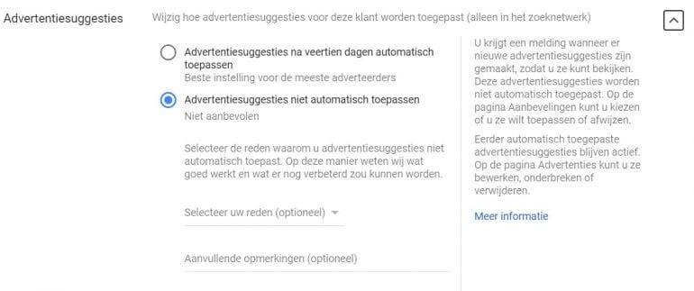 Google Ads gaat door met automatiseren: Auto Applied Recommendations