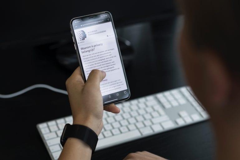 screenshot van mobiel met AVG informatie