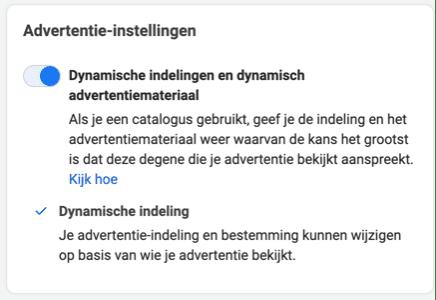 Advertentie-instellingen