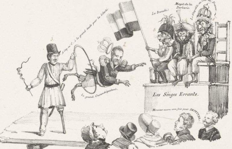 Dolende apen, 1830, anoniem, 1830 - 1831