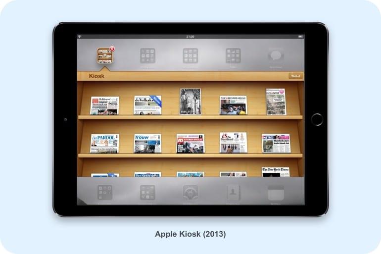 Apple Kiosk in 2013.