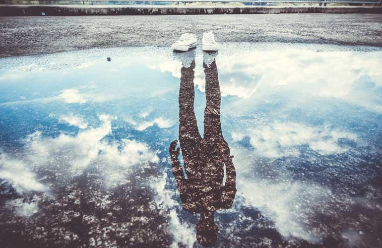 Reflectie in water.