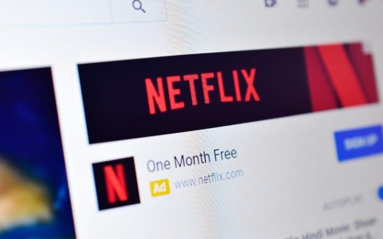 Netflix advertentie eerste maand gratis