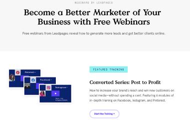 leadpages webinars