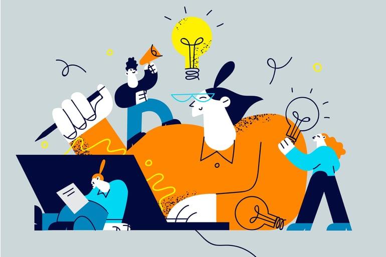 Creatieveling die ongestoord kan werken.